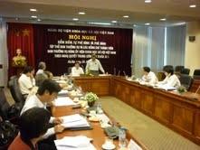 Đảng ủy Viện Khoa học xã hội Việt Nam kiểm điểm, phê bình và tự phê bình theo nội dung Nghị quyết Trung ương 4 (khóa XI)
