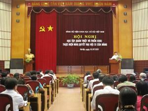 Hội nghị học tập, quán triệt và triển khai Nghị quyết Đại hội XI của Đảng