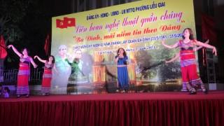 """Đội văn nghệ Viện Hàn lâm KHXH Việt Nam tham gia chương trình liên hoan nghệ thuật quần chúng """"Ba Đình, mãi niềm tin theo Đảng"""""""