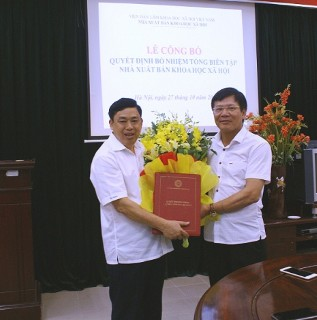 Lễ công bố và trao Quyết định bổ nhiệm Tổng biên tập Nhà xuất bản Khoa học xã hội