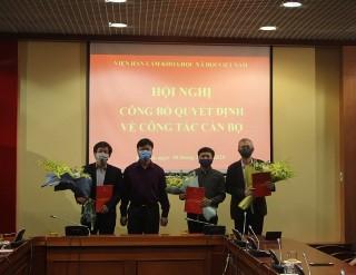 Lễ Công bố và trao Quyết định về công tác cán bộ