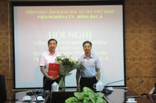 Lễ Công bố và trao Quyết định bổ nhiệm Quyền Tổng biên tập Tạp chí Nghiên cứu Đông Bắc Á