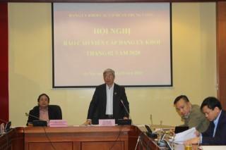 Hội nghị báo cáo viên cấp Đảng ủy Khối các cơ quan Trung ương tháng 02 năm 2020