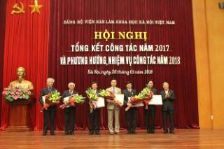 Hội nghị Tổng kết công tác năm 2017 và bàn phương hướng, nhiệm vụ công tác năm 2018 của Đảng bộ Viện Hàn lâm Khoa học xã hội Việt Nam