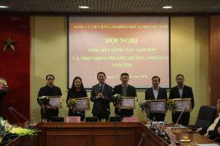 Hội nghị Tổng kết công tác năm 2019 và triển khai phương hướng, nhiệm vụ năm 2020 của Đảng bộ Viện Hàn lâm Khoa học xã hội Việt Nam