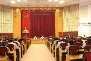 Hội nghị Cán bộ chủ chốt thực hiện quy trình nhân sự Đảng ủy và Ủy ban Kiểm tra Đảng ủy Viện Hàn lâm Khoa học xã hội Việt Nam