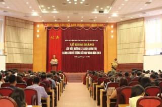 Khai giảng Lớp Bồi dưỡng lý luận chính trị cho đối tượng kết nạp Đảng năm 2018