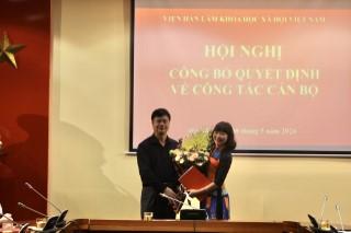 Lễ trao quyết định điều động và bổ nhiệm Viện trưởng Viện Từ điển học và Bách khoa thư Việt Nam