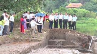 Xuất lộ dấu tích nền móng kiến trúc giai đoạn Đại La cho đến thời Đinh - Tiền Lê ở thế kỷ thứ X tại Di tích quốc gia đặc biệt Cố đô Hoa Lư