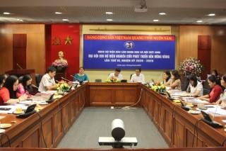 Đại hội chi bộ Viện Nghiên cứu Phát triển bền vững Vùng, lần thứ III,  nhiệm kỳ 2020 - 2025