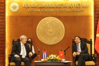 Phó Chủ tịch Đặng Nguyên Anh tiếp Đại sứ Marcos Rodriguez Costa, Vụ trưởng Vụ Quy hoạch Chính trị và Phân tích (DOPIA)-Bộ Ngoại giao Cu Ba