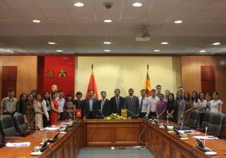 """Hội thảo trực tuyến """"50 năm quan hệ ngoại giao Việt Nam - Sri Lanka: Thành tựu và triển vọng"""""""