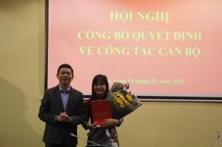 Lễ công bố và trao Quyết định bổ nhiệm Phó Viện trưởng Viện Địa lý nhân văn