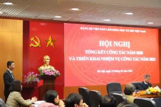 Hội nghị Tổng kết công tác năm 2020 và triển khai phương hướng, nhiệm vụ năm 2021 của Đảng bộ Viện Hàn lâm Khoa học xã hội Việt Nam
