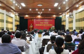 """Hội nghị """"Tập huấn công tác Đảng năm 2017 của Đảng bộ Viện Hàn lâm Khoa học xã hội Việt Nam"""""""